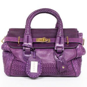 GUCCI Purple Handmade Leather Unicorn Tote Bag